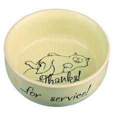 Hoher Katzennapf  mit einem Bildchen, Keramik - 0,3l