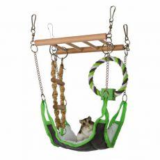 Aufhänge - Klettergerüst für kleine Nager - 17 x 15 x 22 cm