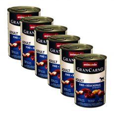 Dose GranCarno Fleisch Adult Räucheraal + Kartoffeln - 6x400g