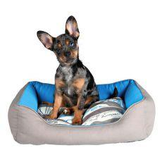 Bett für Hunde oder Katzen SAILOR, blau-grau, 65 x 50 cm