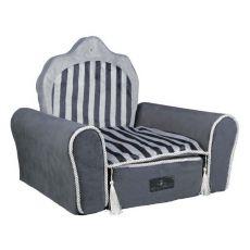 Bett für Hunde oder Katzen Prince Throne, grau - 55 x 44 x 40 cm