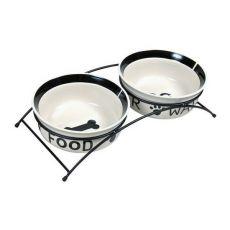 Zwei Keramiknäpfe mit Ständer - 2 x 2,6 l