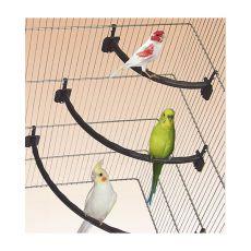 Stange für Vögel, Kunststoff, braun - 1,2 x 21 cm