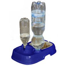 Doppelnapf  TOTA 2 - Kunststoff, blau, 33 x 21 x 6 cm