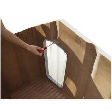 Kunststofftür Porta 5 für Hundehütte - 64 x 35,5 cm
