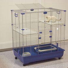 Katzenkäfig ELSA 82 C2, blau - 82x51x94cm