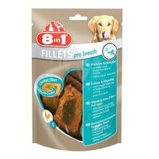 Hähnchensnack für Hunde 8 in 1 FILLETS PRO BREATH - 80g